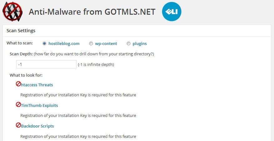 Anti malware plugin from ELI