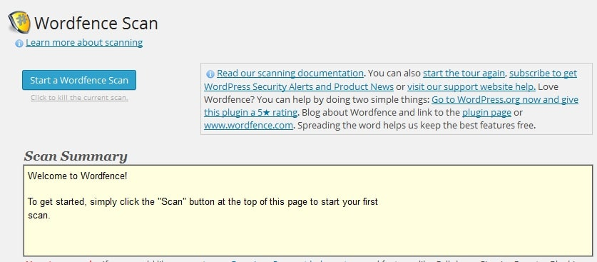 Wordfence scanner - Best WordPress security and malware removal plugins (2015)
