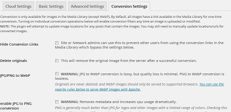 convert JPG, GIF to PNG in wordpress