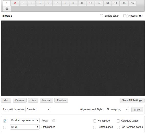 Ad Inserter - best AdSense plugins