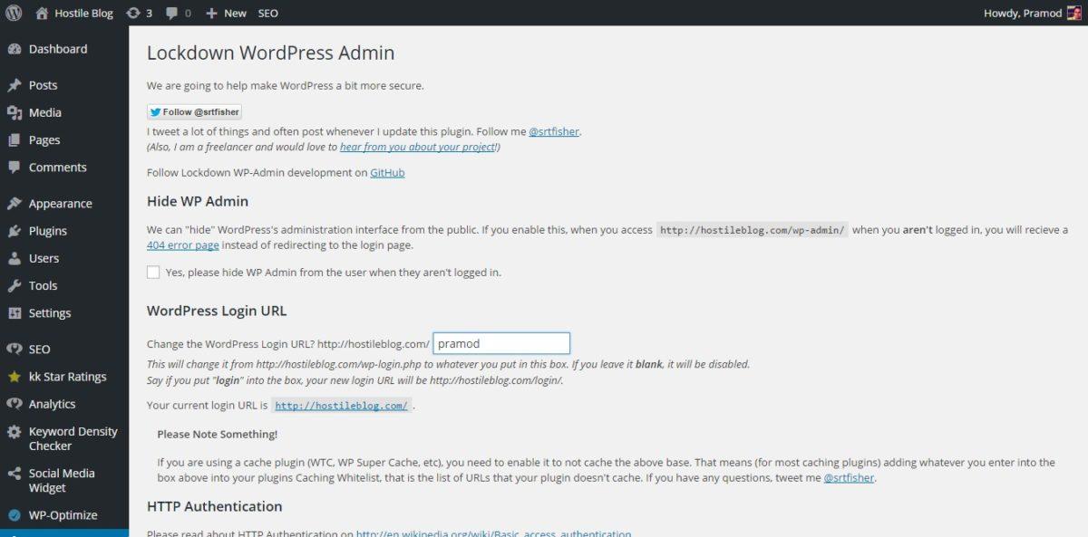 lockdown wordpress admin - change wp login.php url