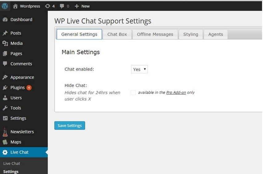 wp live chat plugin