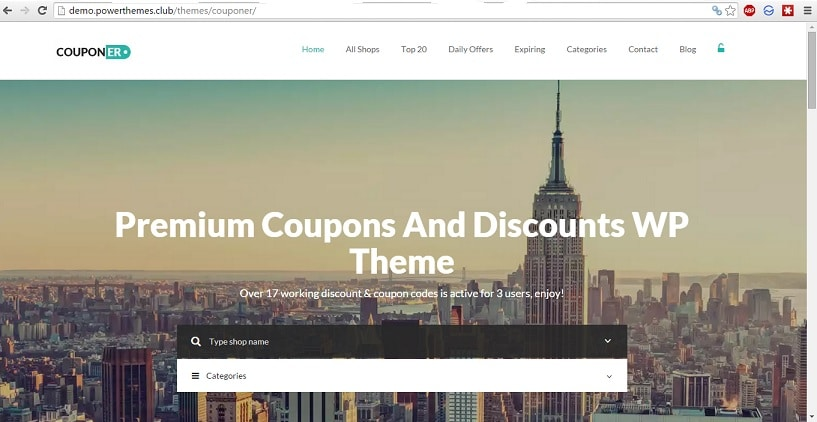 Couponer WordPress theme premium