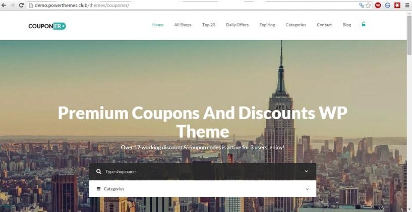 Couponer WordPress theme premium