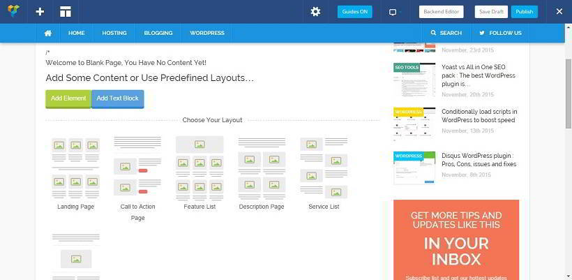 visual composer review 2015 front end editor