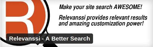 relevanssi - best WordPress search plugins