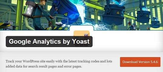 GA by Yoast : analytics dashboard wordpress