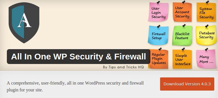 all in one security and firewall security plugin for WordPress