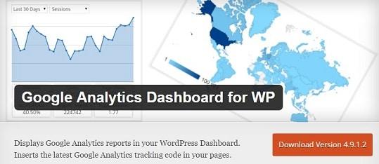 free plugin to add google analytics dashboard wordpress