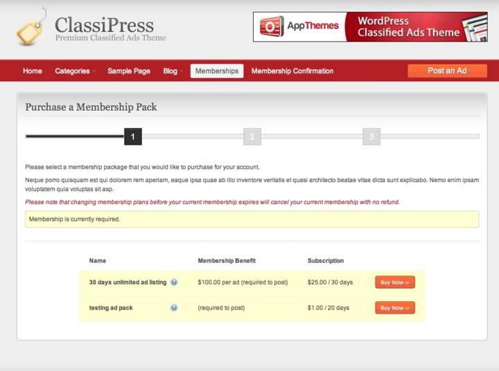 classipress membership