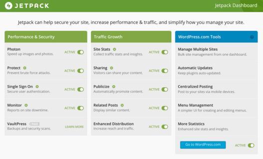 Download jetpack plugin for WordPress