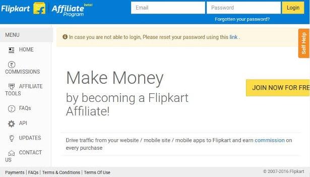 flipkart affiliate program review