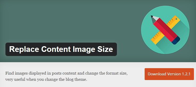 replace content image size wordpress plugin