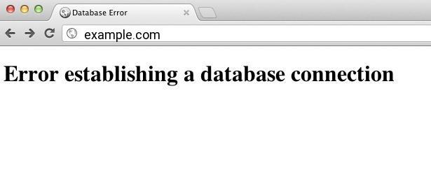 fix error establishing a database connection error in WordPress