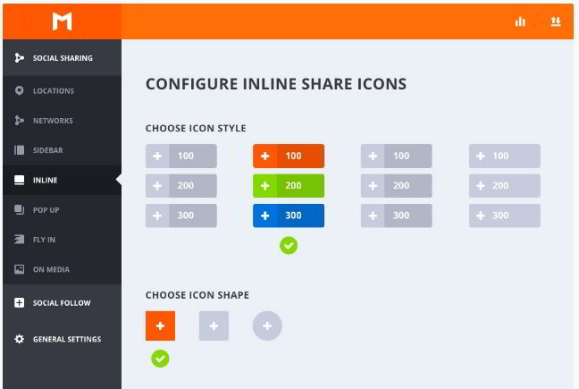 Monarch plugin share icons