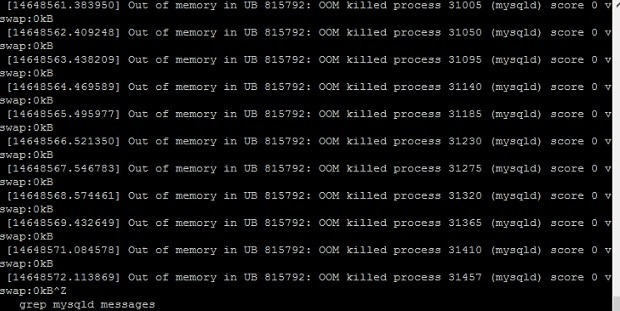 OOM killer fix out of memory error in linux vps