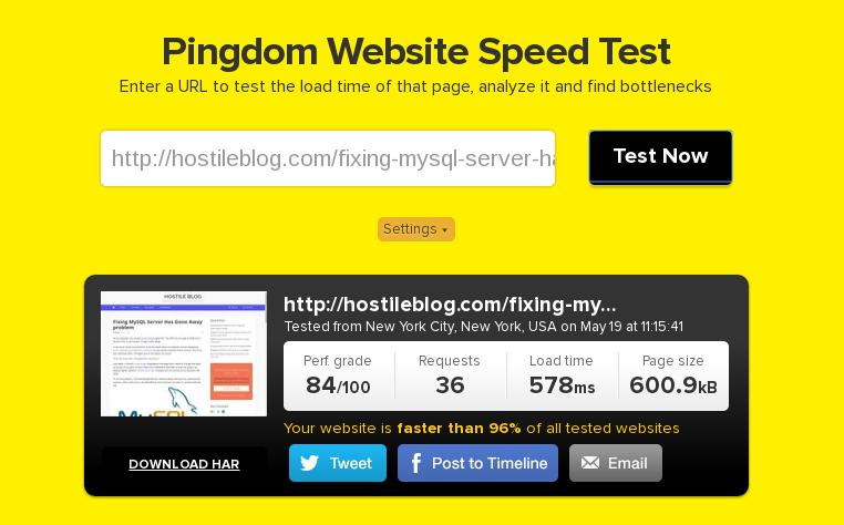 hostgator VPS speed test
