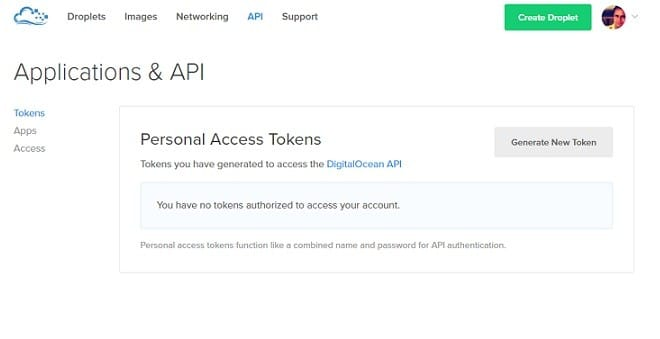 DigitalOcean Hosting API