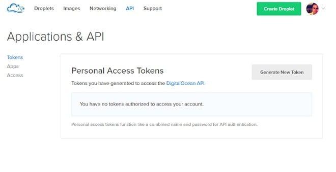 DigitalOcean Hosting API