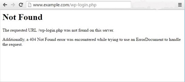404 not found wp-login wp-admin PHP files