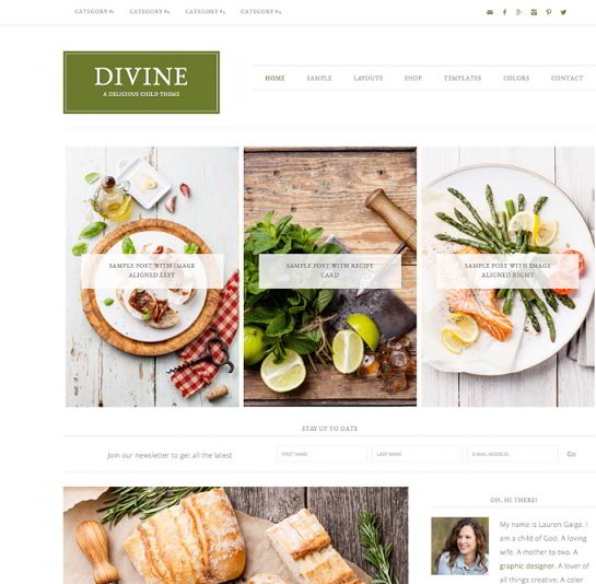Divine Theme from StudioPress Genesis Framework