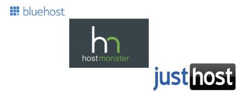 bluehost vs hostmonster vs justhost