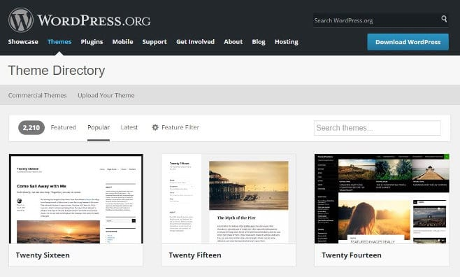 Free wordpress themes directory