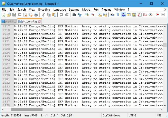 Nginx Apache access error logs