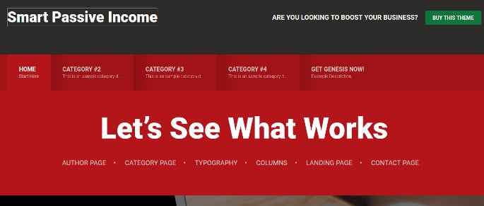 WordPress SPI Pro theme header