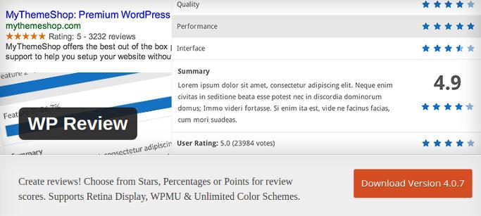 WPR - best WordPress review plugins 2016