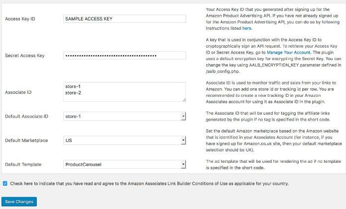 Amazon associates link builder wordpress plugin