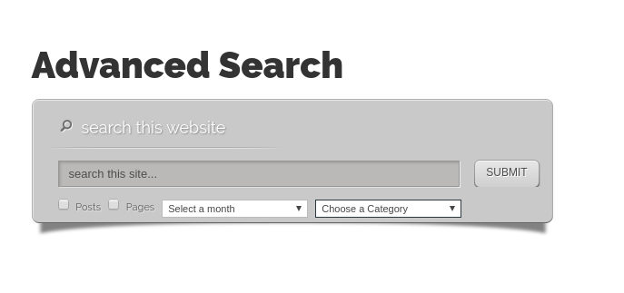 Advanced search elegant themes