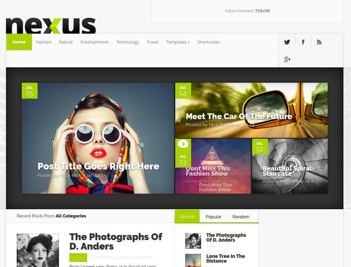 Nexus WordPress theme review
