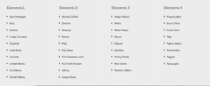 Avada elements