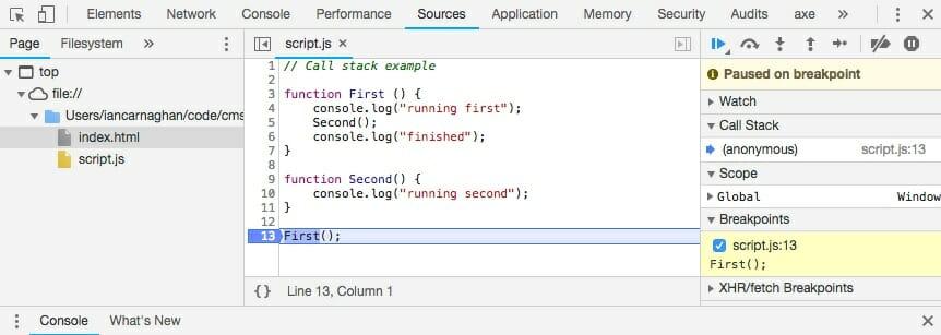 JavaScript Call Stack - Ian Carnaghan
