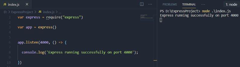 Express.js connection