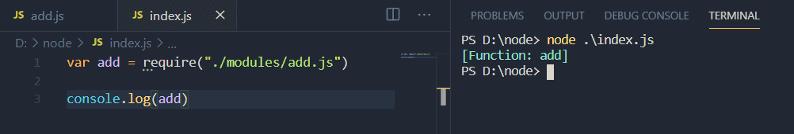 Node.js module