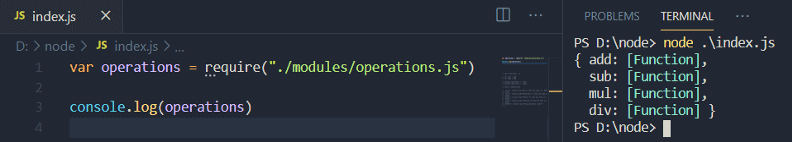Import to index.js