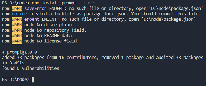 Install prompt