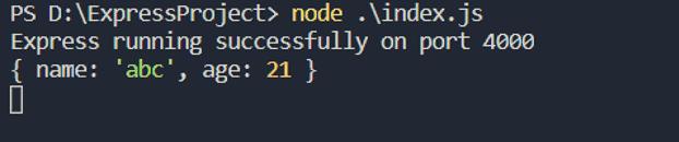 Express JSON output